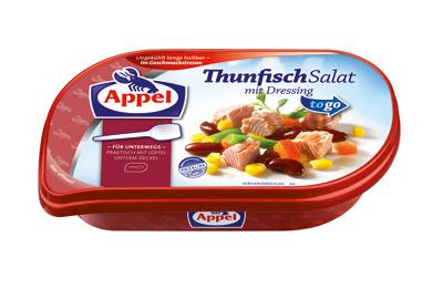 Appel Thunfisch mit Löffel